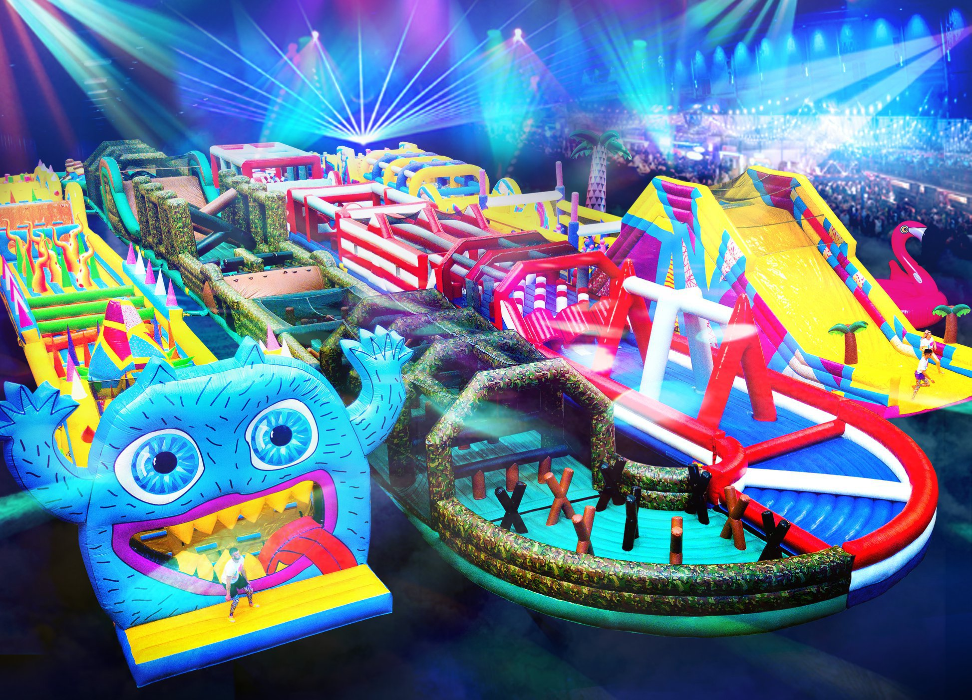 world's biggest inflatable obstacle course is returning to London Picture: The Monster UK