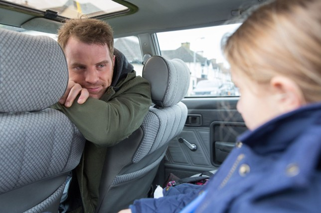 Sean Slater (Rob Kazinsky) picks Amy up from school