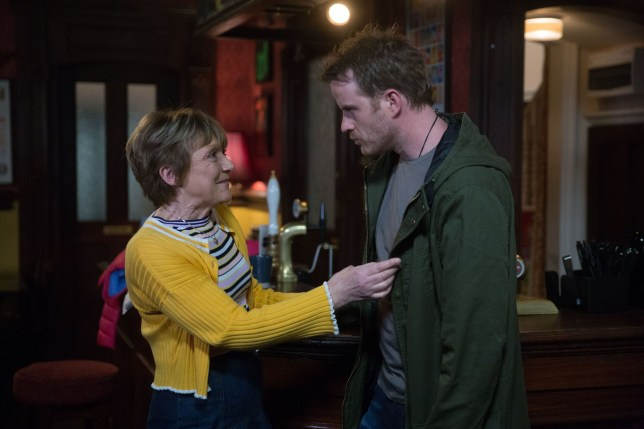 Jean (Gillian Wright) wants to catch up with her son Sean Slater (Rob Kazinsky)