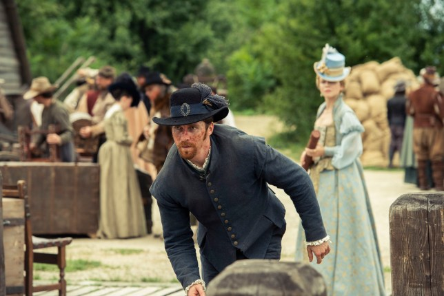 Ben Batt as Willmus Crabtree and Nami Battrick as Joceyln in Jamestown