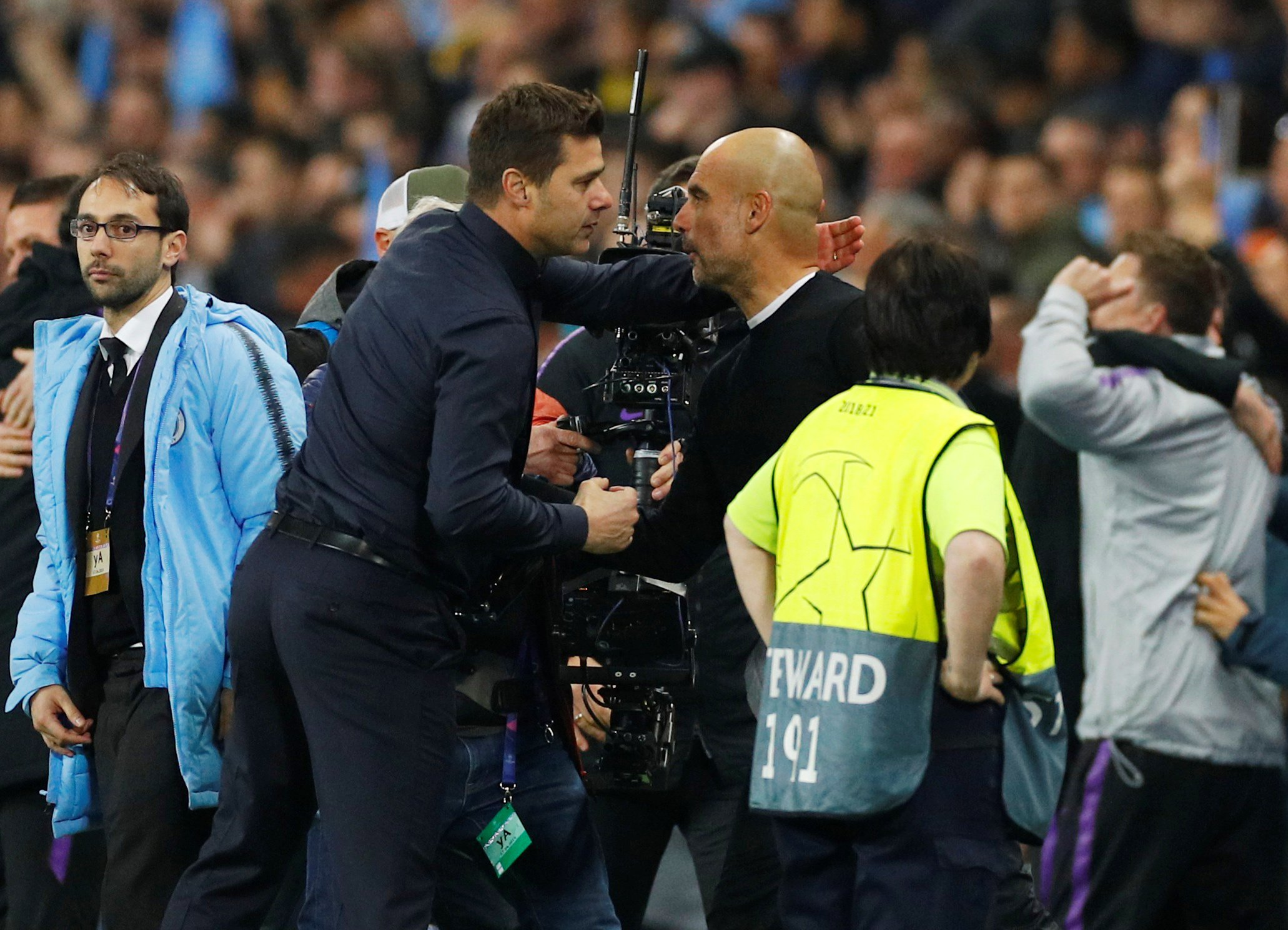Mauricio Pochettino praises Pep Guardiola's reaction after dramatic Champions League exit