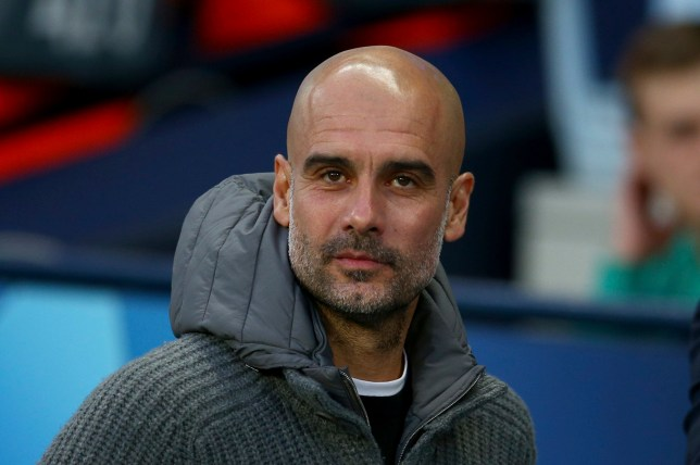 Manchester City coach Pep Guardiola waits for the start of the Champions League quarterfinal, second leg, soccer match between Manchester City and Tottenham Hotspur at the Etihad Stadium in Manchester, England, Wednesday, April 17, 2019. (AP Photo/Dave Thompson)