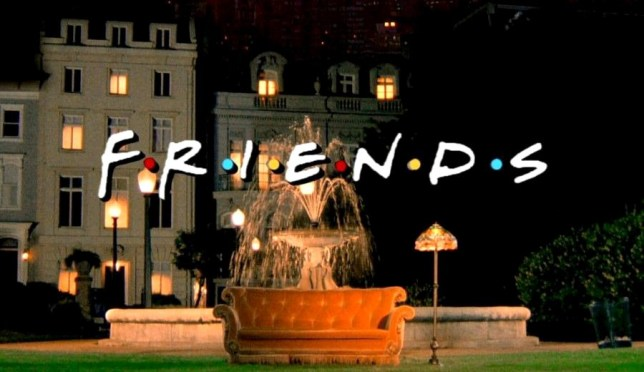 the friends fountain in the opening titles