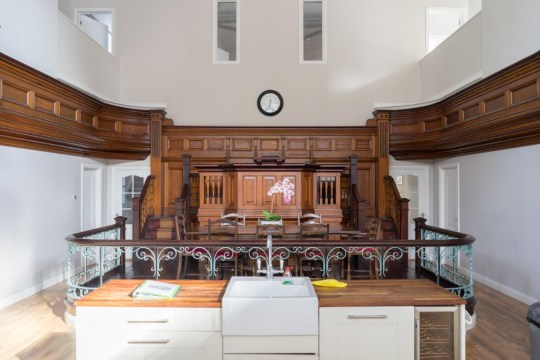 """House-hunters can snap up a divine bargain for Easter - an amazing conversion of a church for less than price of a one-bed flat in London. The historic chapel up for auction at ?200,000 is described as a """"masterclass on how to transform an iconic chapel into a stunning home."""" The Bethany Baptist Church in Treherbert in the heart of the Rhondda Valleys in Wales is an iconic building used to be filled with singing Welsh voices. WALES NEWS SERVICE"""