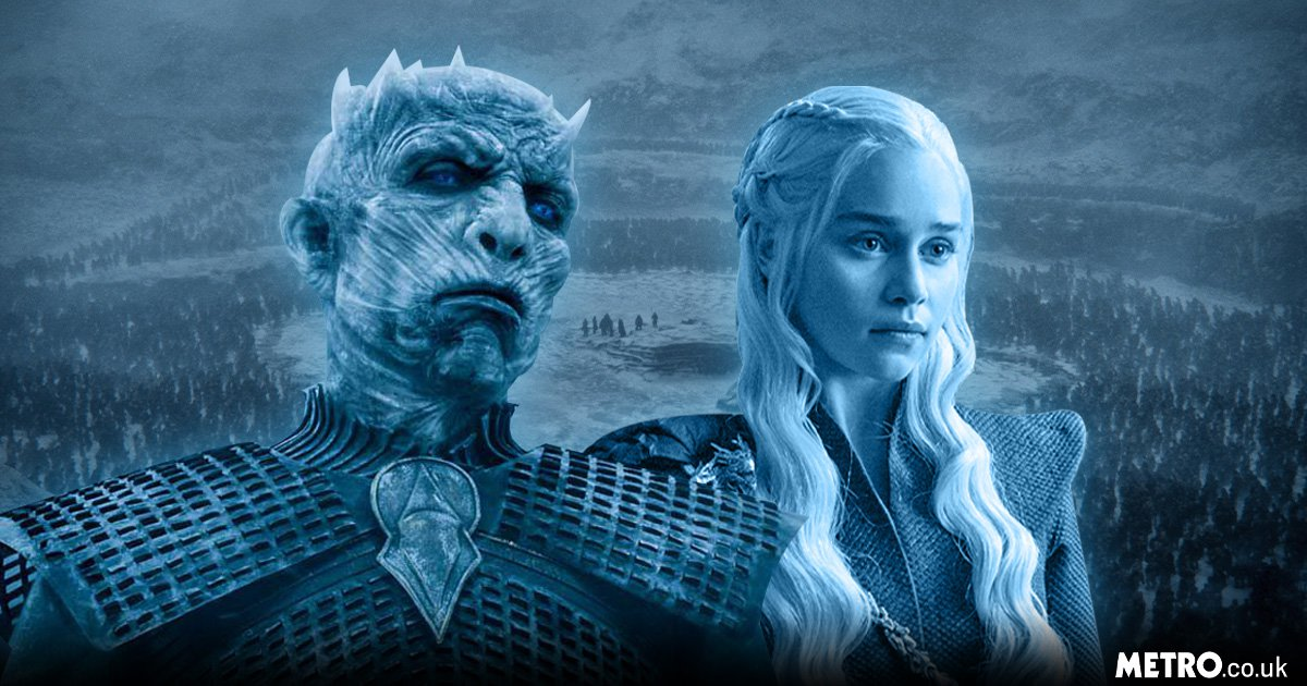 Daenerys Targaryen and The Night King in Game of Thrones