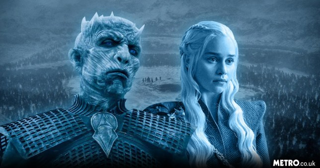 Daenerys Targaryen and The Night King in Game of Thrones