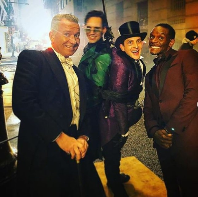 Gotham Finale - Sean Pertwee, Cory Michael Smith, Robin Lord Taylor, Chris Chalk Behnd the scenes - Alfred, Riddler, Penguin, Lucius Fox