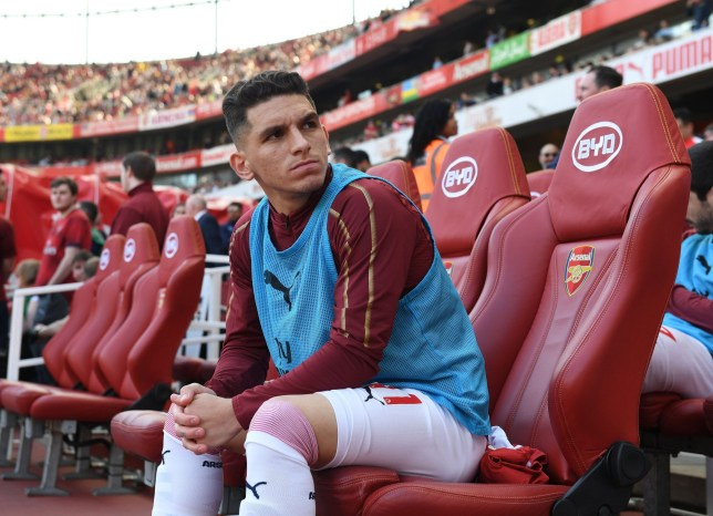 LONDON, ENGLAND - APRIL 21: Lucas Torreira of Arsenal before the Premier League match between Arsenal FC and Crystal Palace at Emirates Stadium on April 21, 2019 in London, United Kingdom. (Photo by David Price/Arsenal FC via Getty Images)