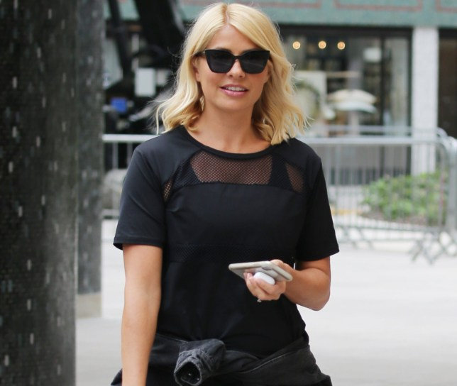 Holly Willoughby in her gym gear outside ITV Studios Featuring: Holly Willoughby Where: London, United Kingdom When: 23 Apr 2019 Credit: Rocky/WENN.com