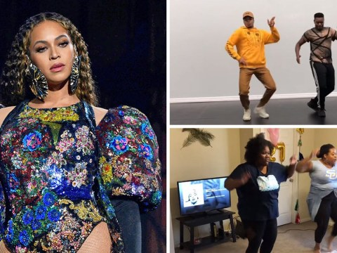 Beyonce starts Before I Let Go dance challenge and we are trying it immediately