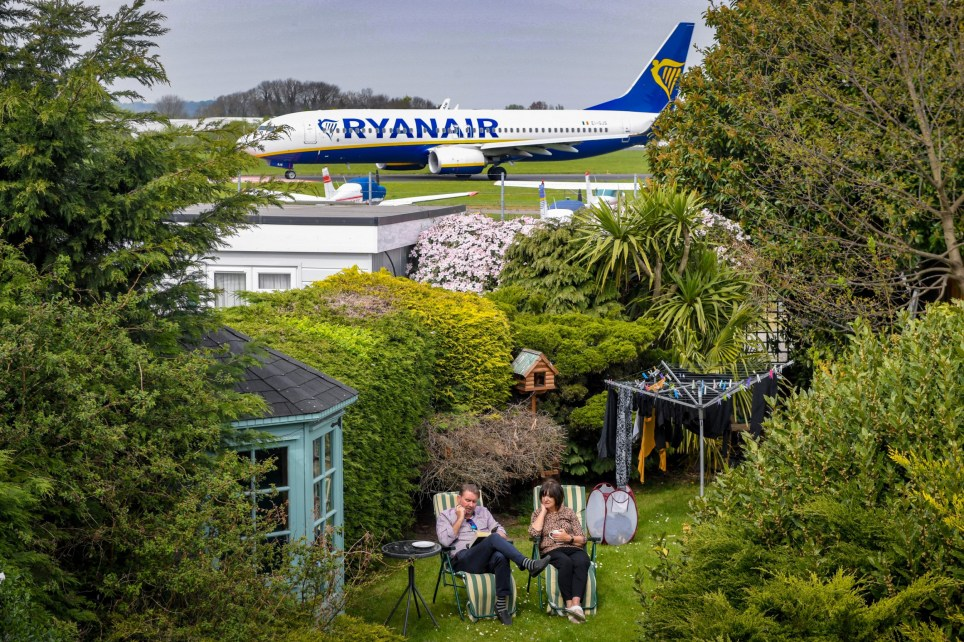 Family living next to airport unhappy with noise of airport
