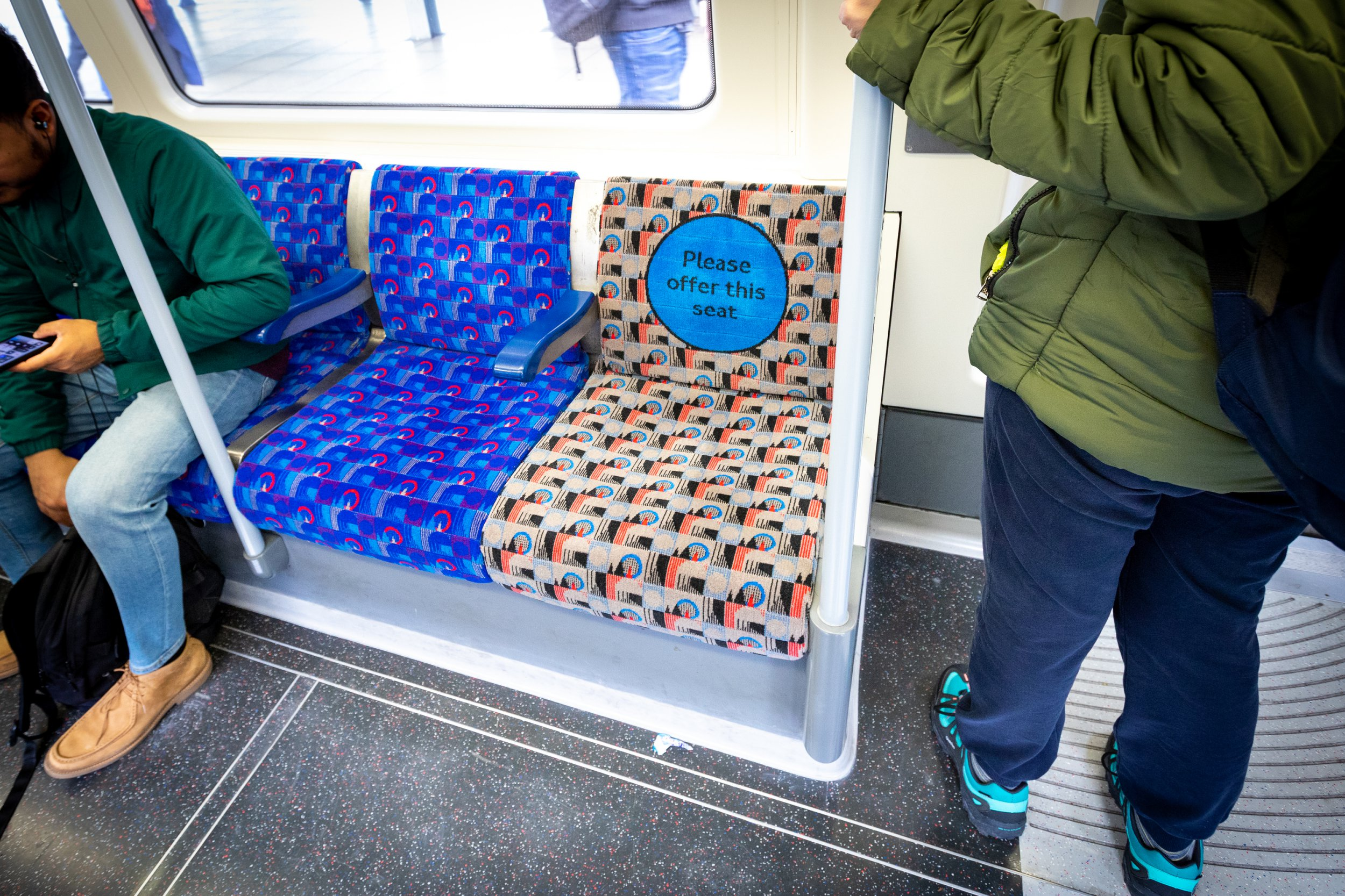 Priority seat moquette on the jubilee line
