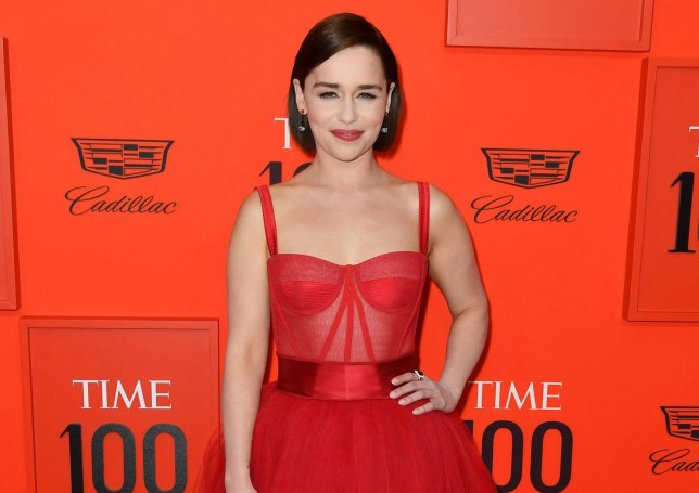Emilia Clarke arrives on the red carpet for the Time 100 Gala at the Lincoln Center in New York