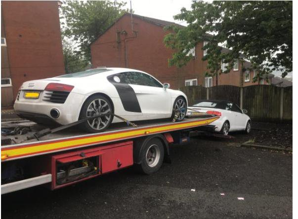 Theft gang who stole £500,000 worth of luxury cars jailed