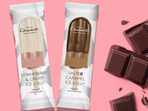 Hotel Chocolat launches new vegan ice lollies