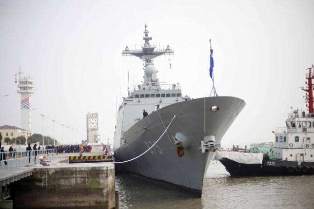Mandatory Credit: Photo by Imaginechina/REX/Shutterstock (10056573m) The destroyer ROKS Chungmugong Yi Sun-sin (DDH-975) of South Korean Navy arrives at a military port in Shanghai. South Korean navy ships visit to Shanghai, China - 14 Jan 2019 Two ships of the South Korean Navy, destroyer ROKS Chungmugong Yi Sun-sin (DDH-975) and depot ship ROKS Daecheong (AOE-58) arrived in a port to start a four-day visit to Shanghai on Monday.