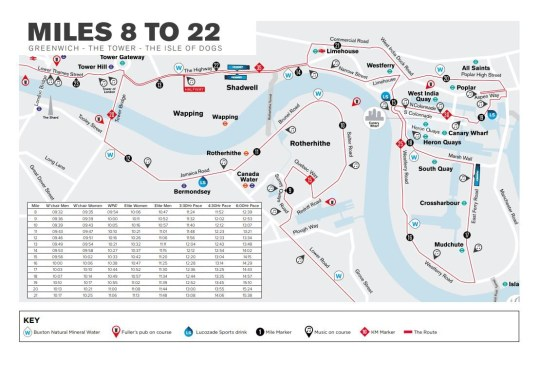 Marathon Subway Map.Where Does The London Marathon 2019 Start And Finish Metro News