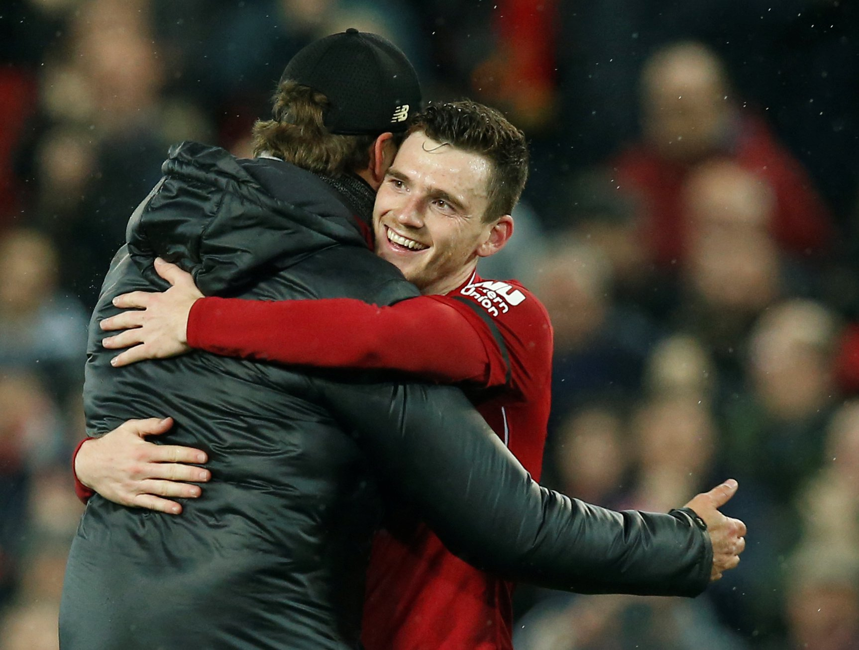 Assist king Andy Robertson delighted as he equals incredible Premier League record in Huddersfield win