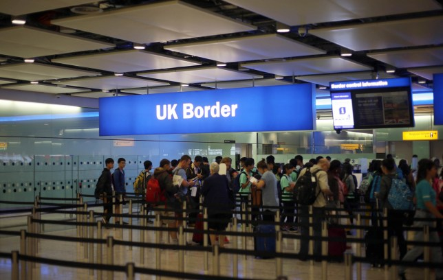 "STOCK IMAGE General view of passengers going through UK Border at Terminal 2 of Heathrow Airport, as a Border Force official has said that identifying victims of female genital mutilation (FGM) is like ""looking for the needle in the haystack""."