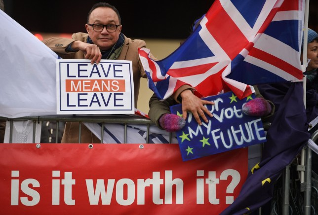 More than half of voters said Brexit wasn't worth it given the difficulties to reach an agreement (Picture: Oli Scarff/AFP/Getty)