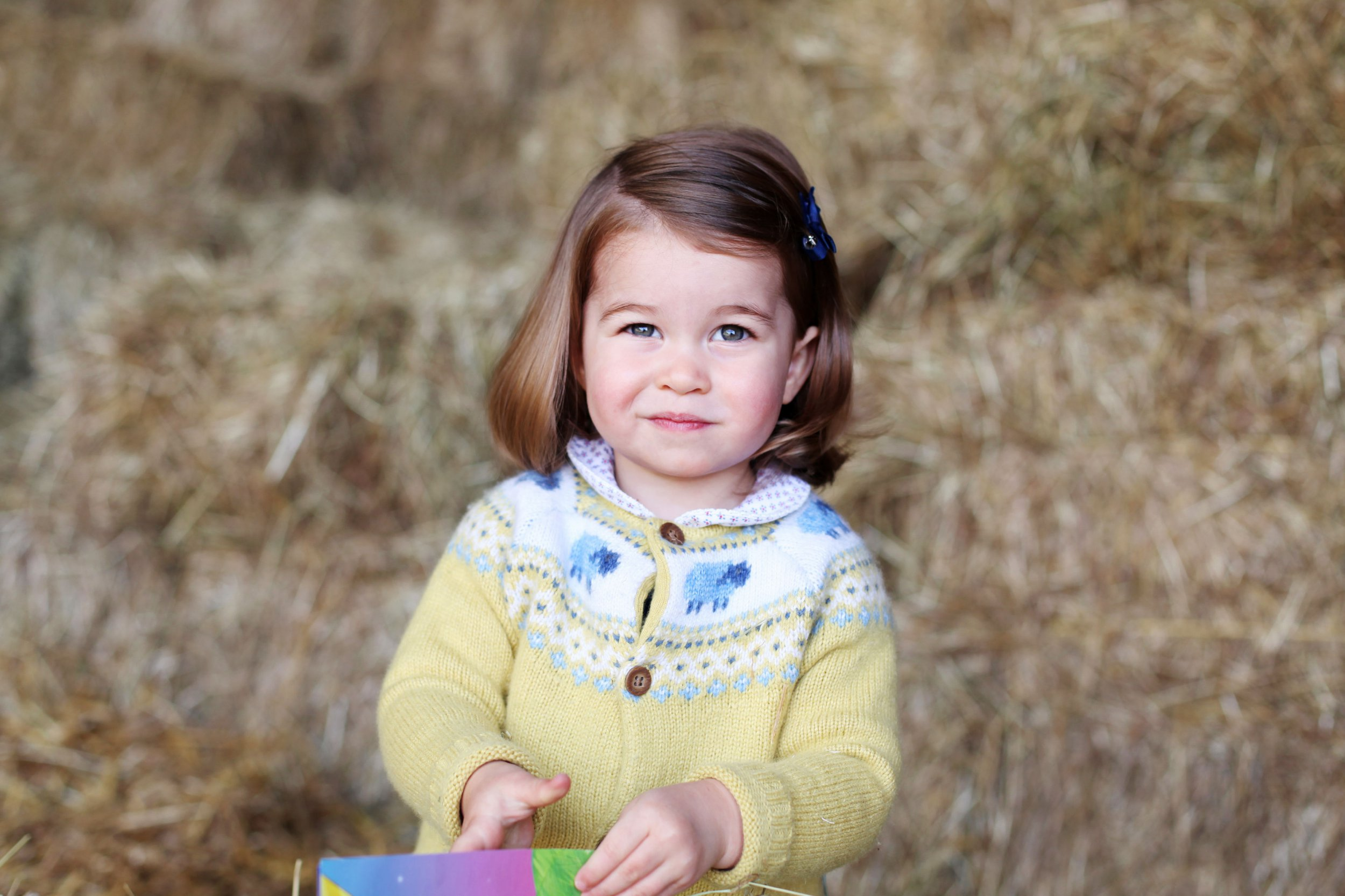 What is Princess Charlotte's full name, how old is she and what position is she to the British throne?
