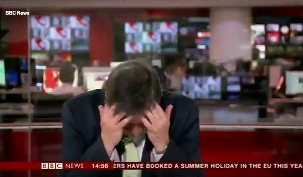 Simon McCoy has had enough of the BBC's pawful puns Videograb from BBC News Video https://videos.metro.co.uk/video/met/2019/04/30/7486889405604738042/640x360_MP4_7486889405604738042.mp4