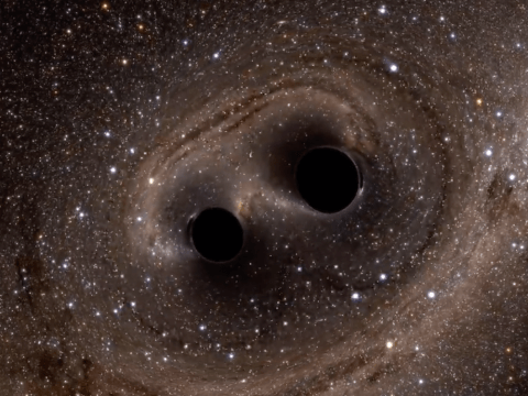 Two supermassive black holes are locked in a 'death spiral' and doomed to collide