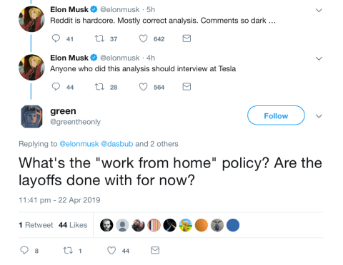 Elon Musk offers Reddit user an amazing Tesla job but they