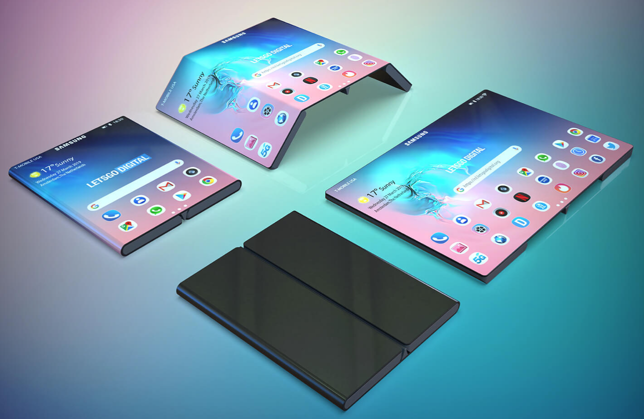 Is this what Samsung's next folding will look like? (Image: LetsGoDigital)