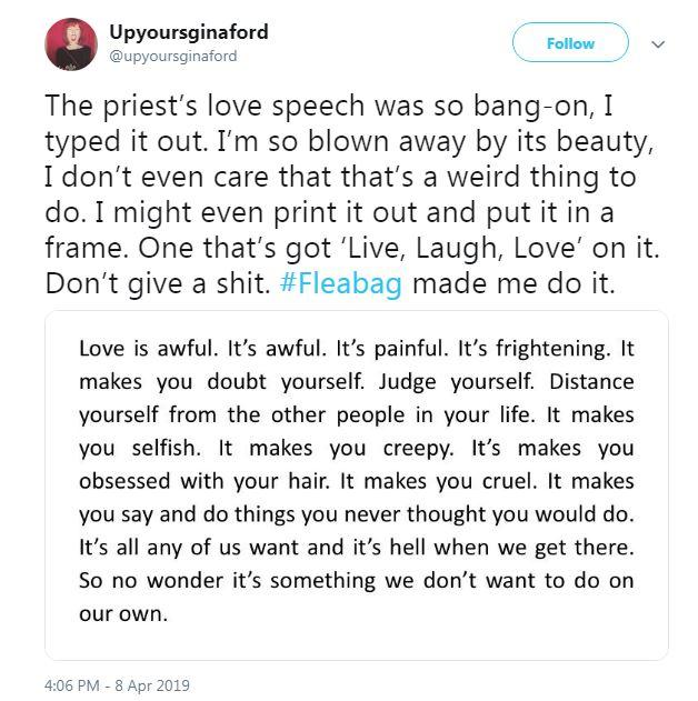 famous speech about love
