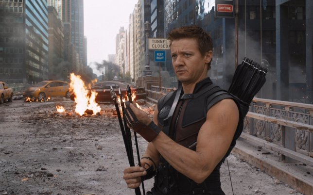 Jeremy Renner as Hawkeye (Picture: Marvel/Disney)