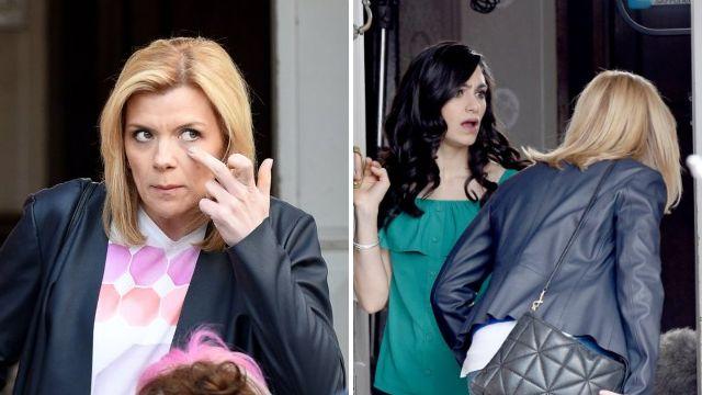 Leanne (Jane Danson) and Natalie (Cassie Bradley) have a showdown