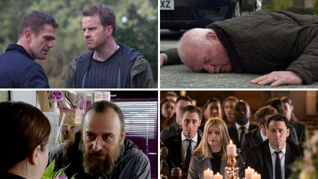 12 soap spoiler pictures: Explosive EastEnders return, Emmerdale death crash, Corrie exit, Hollyoaks funeral pain