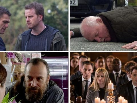 12 soap spoiler pictures: Explosive EastEnders return, Emmerdale death crash, Corrie exit, Hollyoaks funeral pain