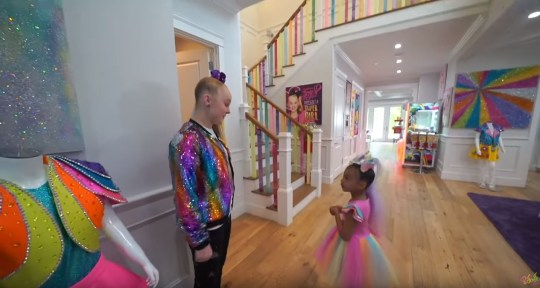 Inside YouTuber JoJo Siwa's house as she collaborates with