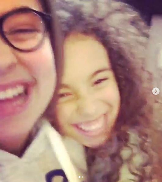 Millie Innes and Mya-Lecia Naylor in an Instagram picture