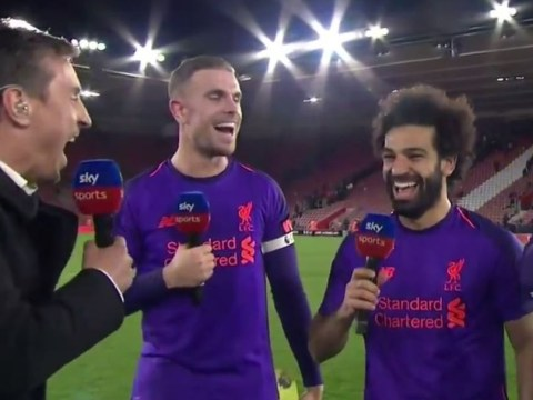 Gary Neville reveals Jordan Henderson's cheeky dig following Liverpool's win over Southampton