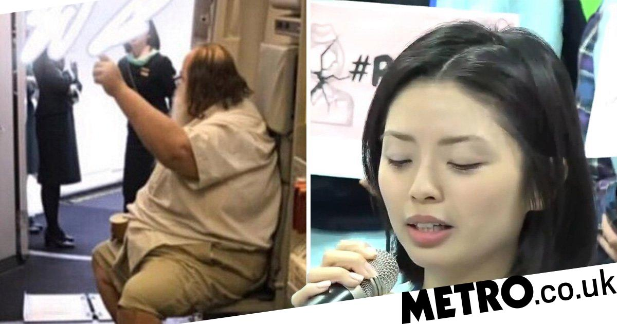 31-stone man who forced air stewardess to wipe his backside