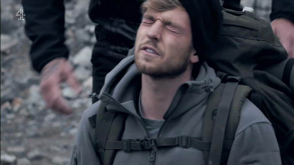 Sam Thompson on Celebrity SAS: Who Dares Wins (Picture: Channel 4)