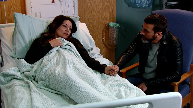 Peter visits Carla in Coronation Street