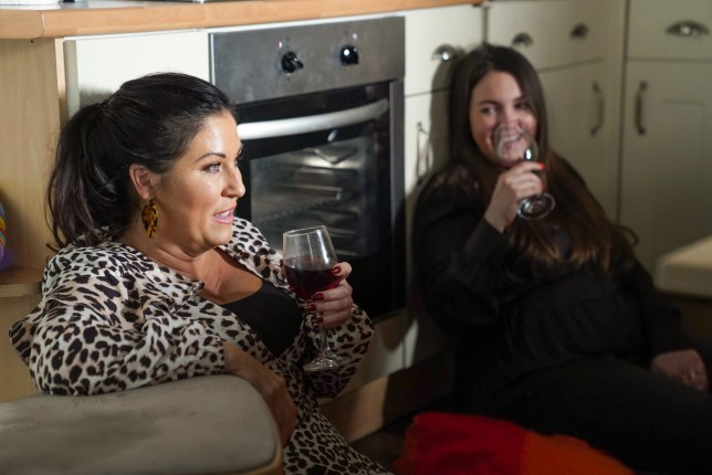 Kat and Stacey drink in EastEnders