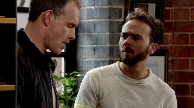 David and Nick fight in Coronation Street