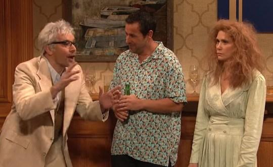 Adam Sandler, Jimmy Fallon, Kristen Wiig SNL 2019 (Picture: NBC)