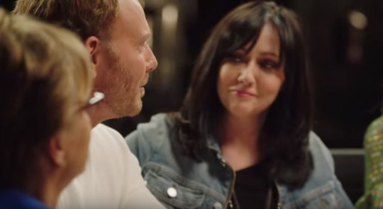 Shannen Doherty at table read for BH90210