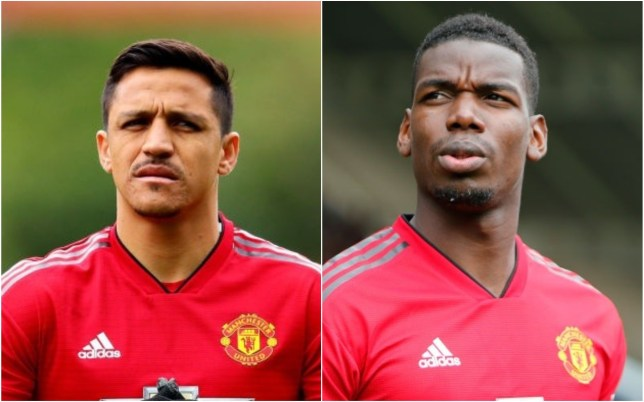 Alexis Sanchez and Paul Pogba are at the centre of a rift in Manchester United's dressing room