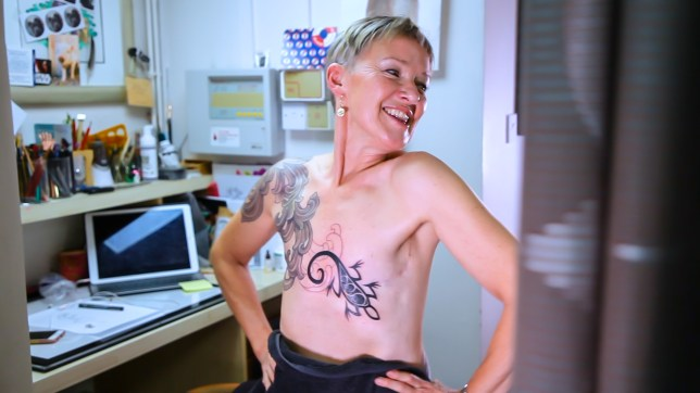 a187700c5 Woman embraces mastectomy scars with stunning tattoo   Metro News