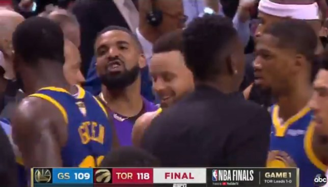 Drake had words with Draymond Green after the Raptors beat the Warriors