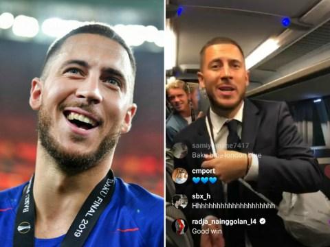 Eden Hazard tells off Antonio Rudiger for teasing Conor Gallagher after Europa League win