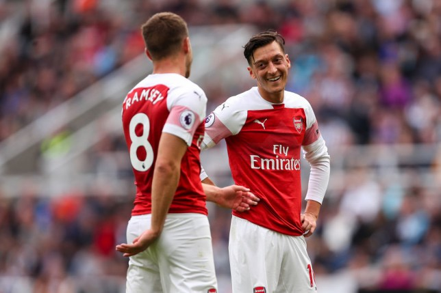 Mesut Ozil says Aaron Ramsey will be missed at Arsenal
