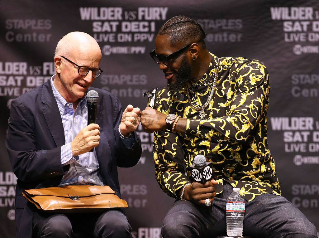 Eddie Hearn 'gutted' to hear Team Deontay Wilder have shelved Anthony Joshua fight until 2020